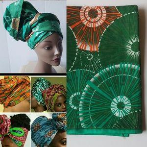 Trendy African wax head/wrap/scar/tie/turban.
